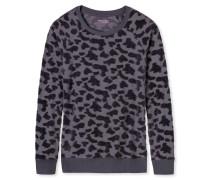 Shirt langarm Velours Jacquard Dots graphit - Mix & Relax
