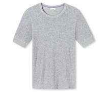 Shirt kurzarm silbergrau meliert - Revival Hartmut