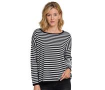 Pullover Strick Ringel schwarz-weiß - selected! premium