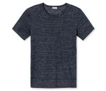 Shirt kurzarm blau-weiß - Revival Helmut