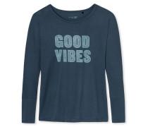 Shirt langarm blaugrau bedruckt - Mix & Relax