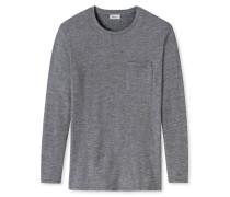 Shirt langarm schwarz-weiß - Revival Marius