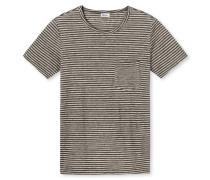 Shirt kurzarm oliv-graumelange - Revival Helmut