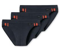 Rio-Slips 3er-Pack Streifen anthrazit - Essentials