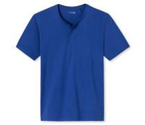 Shirt kurzarm Knopfleiste royalblau - Mix & Relax