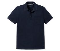 Poloshirt kurzarm Piquee blau - Selected! Premium