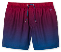 Swimshorts Webware dunkelrot-blau mit Farbverlauf - Aqua Rimini
