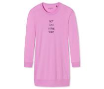 Sleepshirt langarm Ripp-Bündchen pink - Attitude