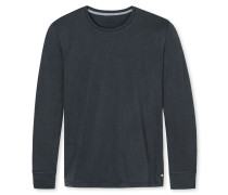 Langarmshirt Rundhals Cotton-Modal-Jersey anthrazit - Mix & Relax