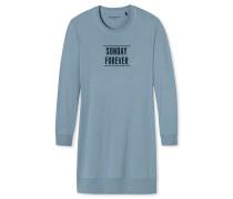 Sleepshirt langarm Ripp-Bündchen mineral - Attitude