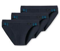 Rio-Slips 3er-Pack Streifen dunkelblau - Essentials