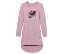 Sleepshirt langarm Jersey altrosa - Midnight Florals