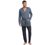 Kimono Mantel Jersey Jacquard Hahnentritt Muster petrol - selected! premium inspiration