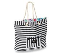 Strandtasche wendbar Blumenprint Streifen mehrfarbig - Mix & Match Nautical