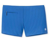 Bade-Retro Wirkware Reißverschluss-Tasche blau gestreift - Aqua Nautical