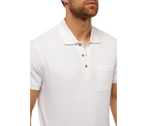 Poloshirt Piquee kurzarm weiß