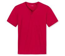 Shirt kurzarm Knopfleiste rot - Mix & Relax
