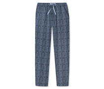 Loungehose lang Webbatist Punkte graphit - Mix & Relax