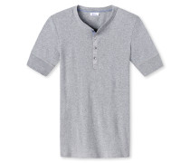 Shirt kurzarm grau meliert - Revival Karl-Heinz