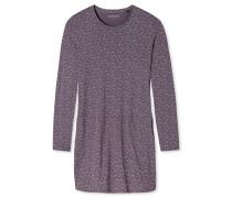 Sleepshirt langarm Jersey Buchstaben grau - Attitude