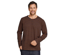 Shirt langarm Ringel rost-dunkelblau - Mix & Relax