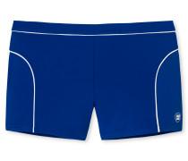 Bade-Retro blau mit weißer Paspelierung - Aqua Miami
