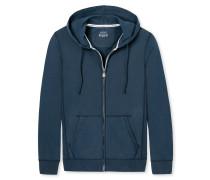Kapuzenjacke Jersey mit Reißverschluss dunkelblau - Mix & Relax
