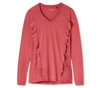 Shirt langarm Raglan-Schnitt Volant cranberry - Mix+Relax