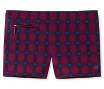 Bade-Retro Reißverschluss-Tasche dunkelrot-blau kariert - Aqua Rimini