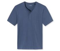 Shirt kurzarm Knopfleiste indigo - Mix & Relax