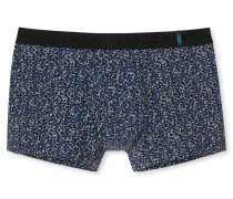Shorts abstraktes Blütenmuster blau-grau - 95/5