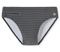 Bade-Sir Wirkware schwarz-weiß gemustert - Aqua Nautical