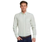 Hemd langarm bügelfrei Button-Down-Kragen mehrfarbig gestreift - REGULAR FIT