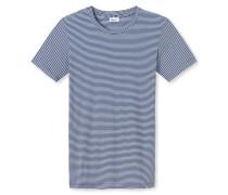 Shirt kurzarm royal-weiß - Revival Josef