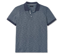 Poloshirt Interlock Piquee Ringel navy - selected! premium