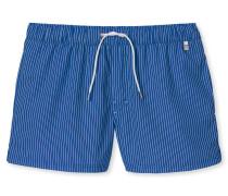 Swimshorts Webware blau gestreift - Aqua Miami