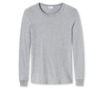 Shirt langarm grau meliert - Revival Karl-Heinz