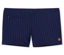 Bade-Retro Reißverschluss-Tasche dunkelblau gestreift - Aqua Miami