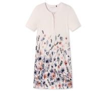 Nachthemd kurzarm Blumen Knopfleiste mehrfarbig - Summer Romance