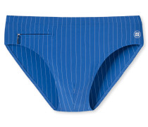 Bade-Sir Wirkware Reißverschluss-Tasche blau gestreift - Aqua Nautical