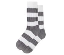 Socken silbergrau meliert/ natur - Revival