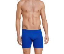 Cyclist Shorts 2er-Pack royalblau/grau meliert - 95/5