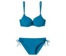 Bügel-Bikini gefüttert Darwin Qualität Midi-Slip petrol - Aqua Colour Power