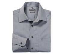 graues Oberhemd in Regular-Fit-Schnittform