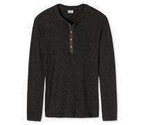Shirt langarm dunkelbraun - Revival Dieter