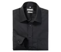 schwarzes Oberhemd in Comfort-Fit-Schnittform