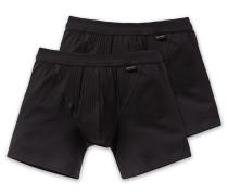 Shorts mit Eingriff 2er-Pack schwarz - Authentic