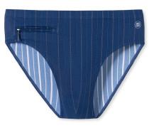 Bade-Sir Reißverschluss-Tasche indigo gestreift - Aqua Rimini