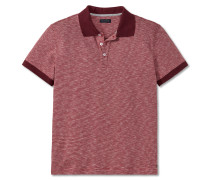 Poloshirt Interlock Piquee Ringel burgund - selected! premium