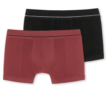 Shorts 2er-Pack schwarz/ bordeaux - Seamless Active